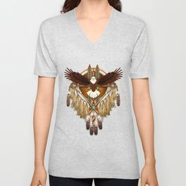 Bald Eagle Mandala Unisex V-Neck