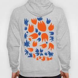 Flowers and Birds are dancing Abstract pattern art Hoody
