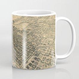 Vintage Pictorial Map of Stockton California (1895) Coffee Mug