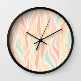 Go with the Flow in Sherbet Wall Clock