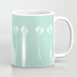 Divine Art Deco Style White Tulips Hero Mint Green Coffee Mug