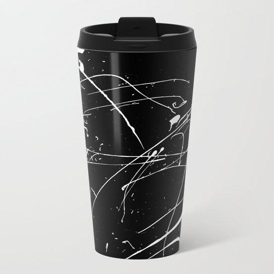 MONOCHROME SPLATTER #2 Metal Travel Mug