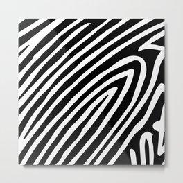 Zebra Party Metal Print