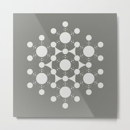 flower of life, alien crop circle, sacred geometry Metal Print