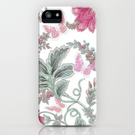 butterfly field red iPhone Case
