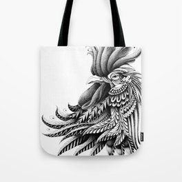 Ornately Decorated Rooster Tote Bag