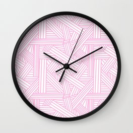 Sketchy Abstract (Pink & White Pattern) Wall Clock