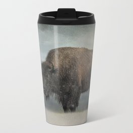 Stormy Day - Buffalo - Wildlife Metal Travel Mug