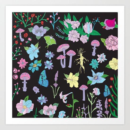 Garden Witch Art Print