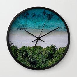 Maldivian island Wall Clock