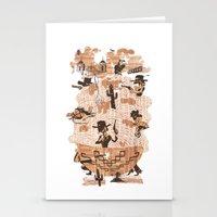 western Stationery Cards featuring Spaghetti Western by Elan Harris