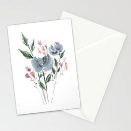 Old Blue Peonies Stationery Cards