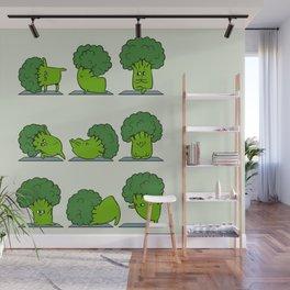 Broccoli Yoga Wall Mural