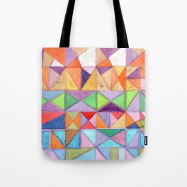 Fresh and Warm Triangle Pattern Tote Bag