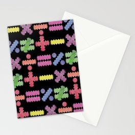 Seamless Colorful Abstract Mathematical Symbols Pattern Stationery Cards