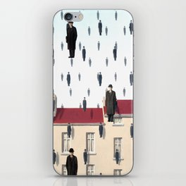 Magritte - Golconda 1953 - Artwork for Wall Art, Prints, Posters, Men, Women, Youth iPhone Skin
