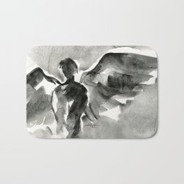 Abstract Angel No.0107 by Kathy Morton Stanion Bath Mat