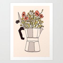 Moka Flowers Art Print