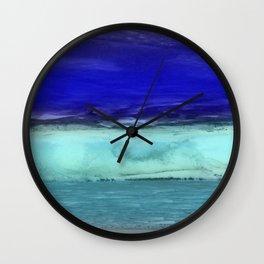 Midnight Waves Seascape Wall Clock