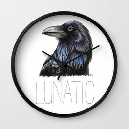 Raven Lunatic Wall Clock