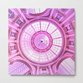 Pink Architecture Monument Metal Print