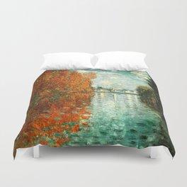 Monet : Autumn Effect at Argenteuil Duvet Cover
