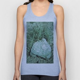 GREEN PICTURE OF A ROCK Unisex Tank Top