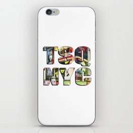 TSQ NYC, Times Square New York City lettering. iPhone Skin