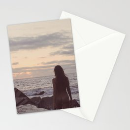 Sunrise walk Stationery Cards