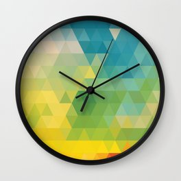 Meduzzle: Colorful Days Wall Clock