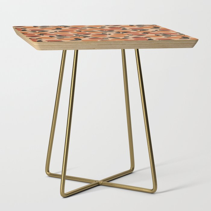 Seamless Citrus Pattern / Oranges Side Table