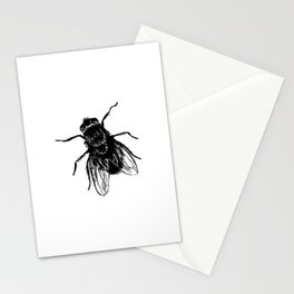 Drawing house-fly Stationery Cards