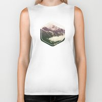 the mountains are calling Biker Tanks featuring The Mountains Are Calling by Noonday Design