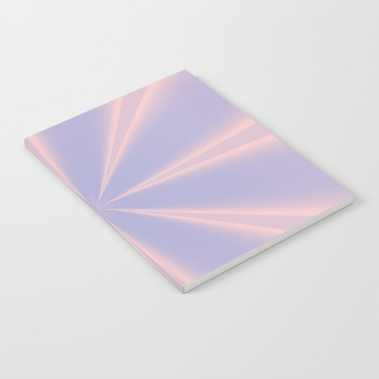 Fractal Pinch in Rose Quartz and Serenity Notebook