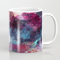 night sky Mugs featuring Night Sky by Marlidesigns