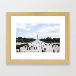 Sunny Day on the National Mall Framed Art Print