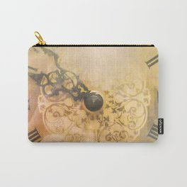 Old Wall Clock Vintage Style Photo Carry-All Pouch