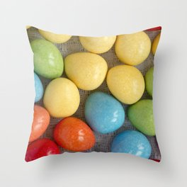 Easter Eggs I Throw Pillow