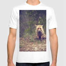 Mr Fox is staring at you Mens Fitted Tee White MEDIUM
