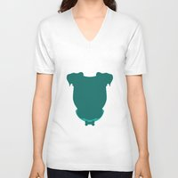 pit bull V-neck T-shirts featuring Pit Bull by The Velvet Buffalo