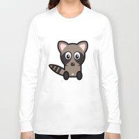 raccoon Long Sleeve T-shirts featuring Raccoon by mrninja13