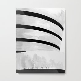 Architecture sketch of the Guggenheim Museum New York Metal Print