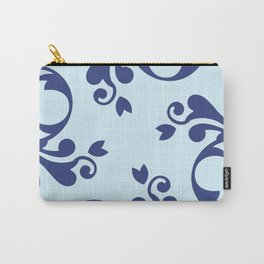 French Damask, Ornaments, Swirls - Blue  Carry-All Pouch