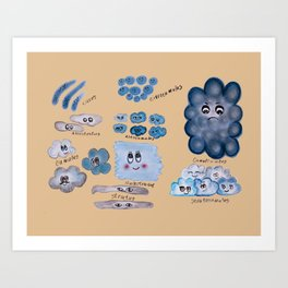 Clouds collection Art Print