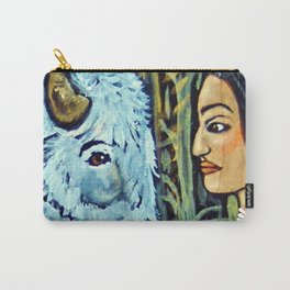 Sacred White Buffalo * Nature Maiden Carry-All Pouch
