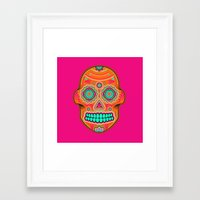 sugar skull Framed Art Prints featuring Sugar Skull by Good Sense