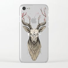 Deer tree Clear iPhone Case