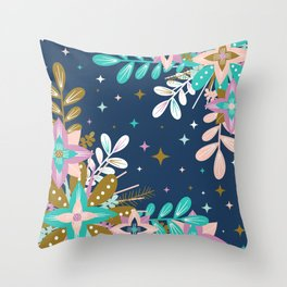 Floral Pop One Throw Pillow
