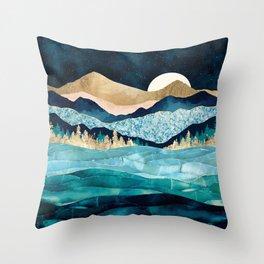 Midnight Ocean Throw Pillow