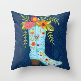 Cowgirl Boot Throw Pillow